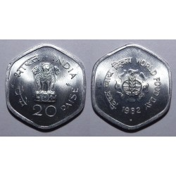 Indie - 20 paise - 1982