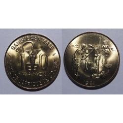 Zachodnia Afryka Fran. - 10 franków - 1981