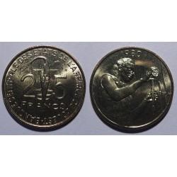 Zachodnia Afryka Fran. - 25 franków - 1980