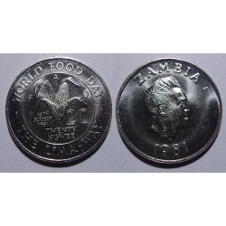 Zambia - 20 ngwee - 1981