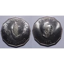 Zambia - 50 ngwee - 1972