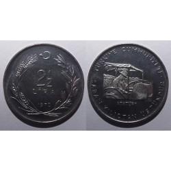 Turcja - 2 1/2 liry - 1970